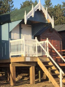 Beach Hut with Gothic Fascia and Railings
