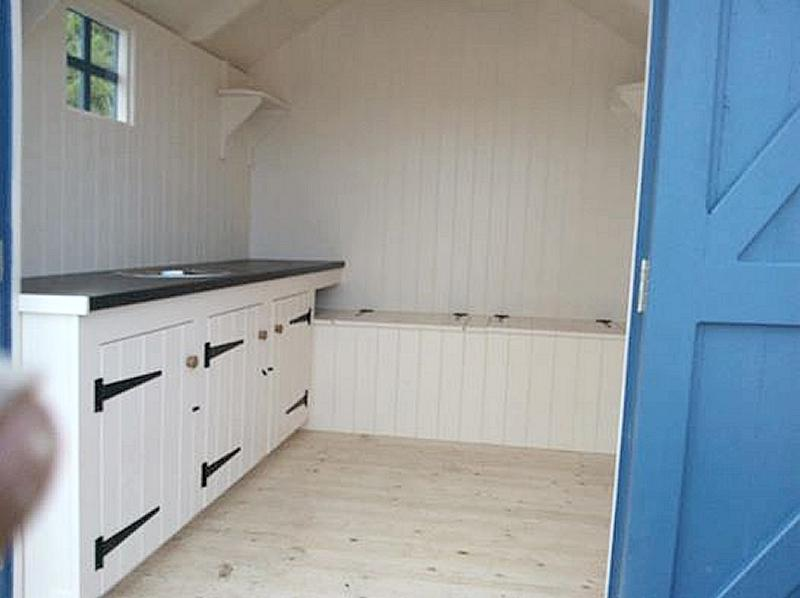 Custom made beach hut interiors for Beach hut style