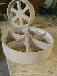 shepherds hut wheel moulds