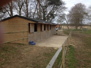 Stable block and tack room